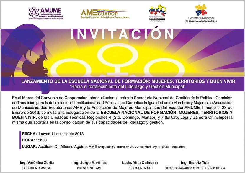 INVITACION ESCUELA DE FORMACION