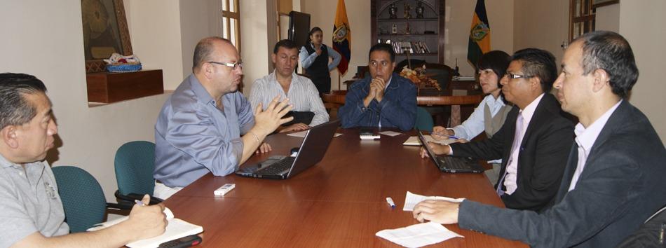 Reunión AME Tungurahua y Ministerio de Educación Unidades Educativas Milenio web
