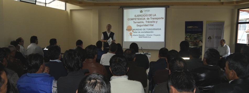 Socialización trabajo de Mancomunidad de Tránsito Tungurahua - web