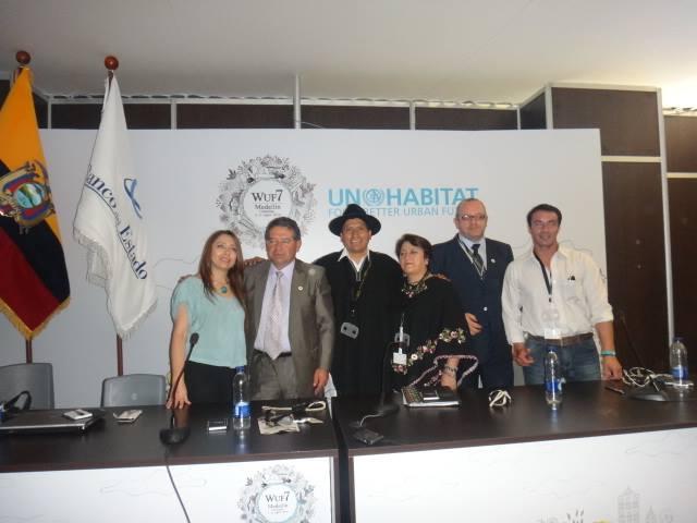 Alcalde de Pelileo participó en WUF7