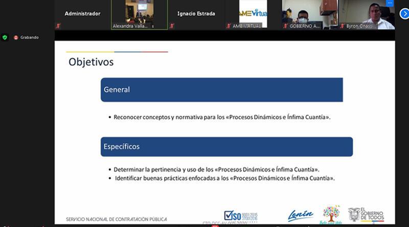 """Funcionarios municipales se capacitan en """"Procedimientos Dinámicos e Ínfima Cuantía"""""""