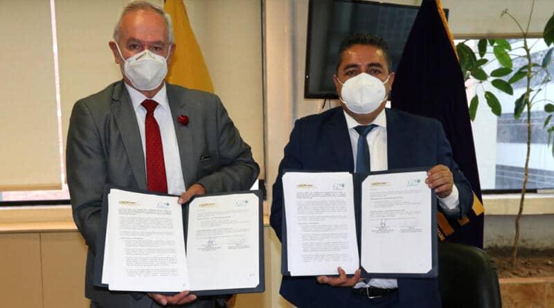 AME Y EMPRESA PÚBLICA UCE PROYECTOS EP firman convenio de cooperación  interinstitucional