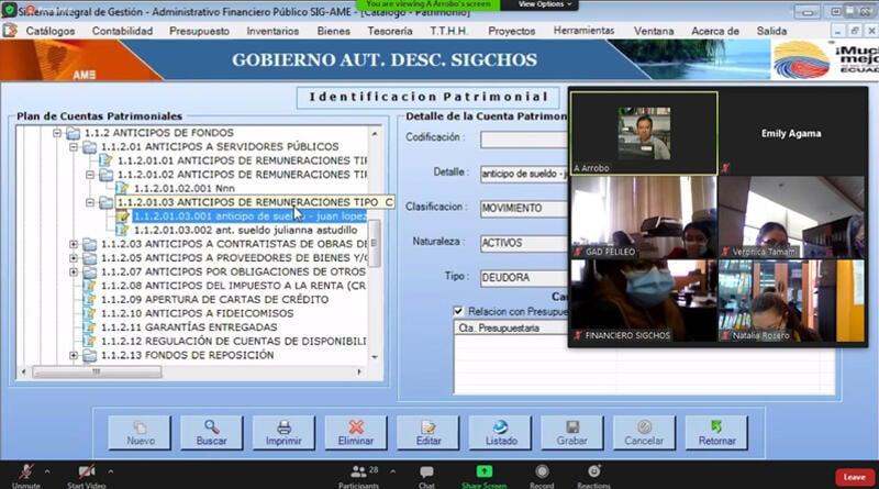 Sistema SIGAME se implementará en los GADM de Pelileo, Sigchos, Baba y el Cuerpo de Bomberos de Guano