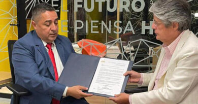 En Guayaquil: AME oficializó invitación a candidato presidencial de CREO-PSC